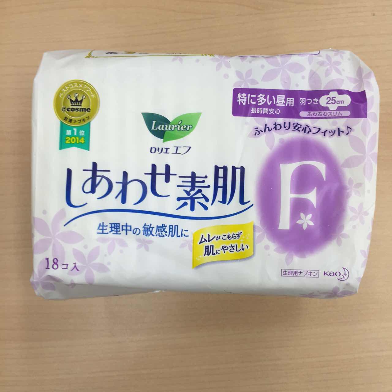 日本超薄f系列量多日用护翼卫生巾25cm 18片-0