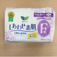 日本超薄f系列量多日用护翼卫生巾25cm 18片