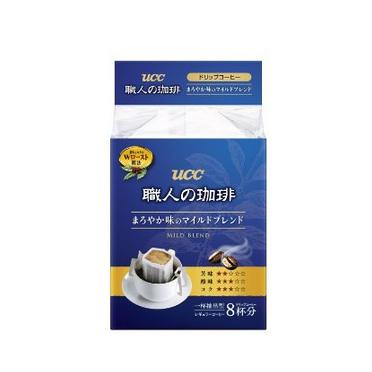 日本进口UCC挂耳职人咖啡粉圆润柔和 7g*8p袋-0
