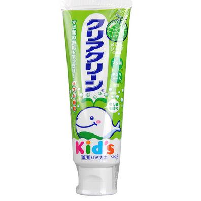日本进口 花王儿童牙膏 木糖醇氟素防蛀防龋齿 70g 哈密瓜味-0