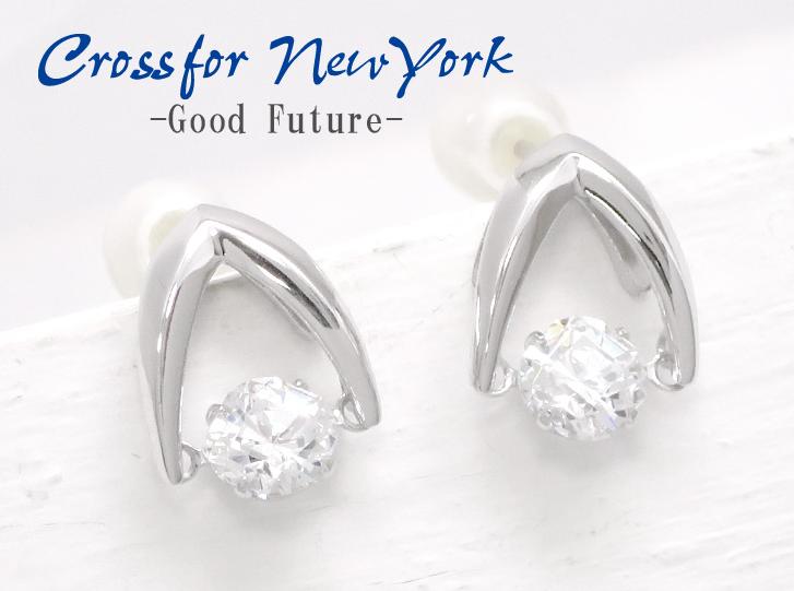 Crossfor 纽约 DancingStone Silver925 耳环 银 珍珠