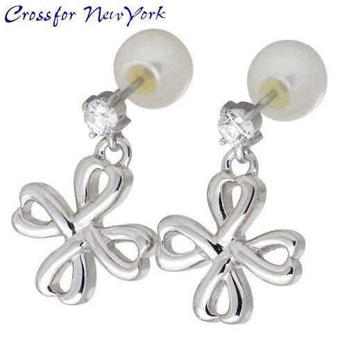 女性银耳环 Crossfor 纽约石立方