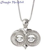 Crossfor 纽约 猫头鹰的眼睛 银项链