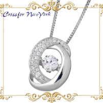 银项链 Crossfor 纽约 立方融合 礼品