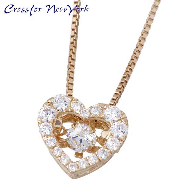 女士 银项链 Crossfor 纽约 心形