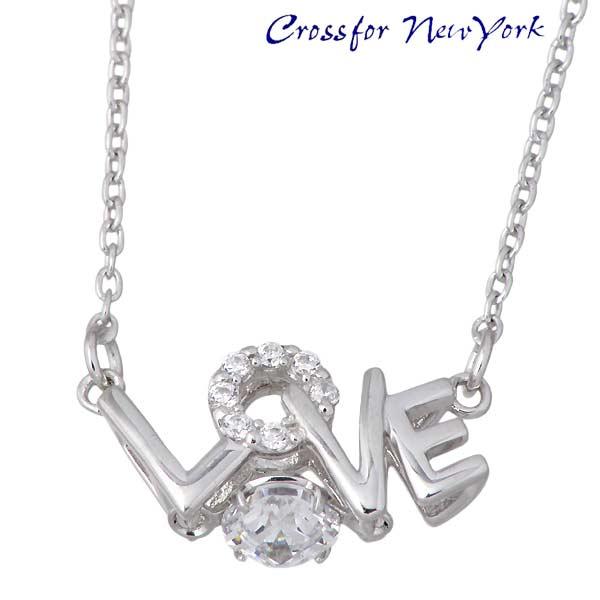 女士银项链 Crossfor NewYork LOVE