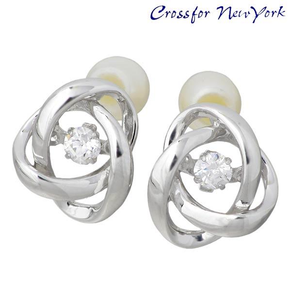 Crossfor 纽约 Loop2 银耳环 珍珠