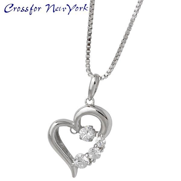 项链 银 Crossfor NewYork Heart