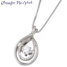 Crossfor 纽约 泪滴形 银项链