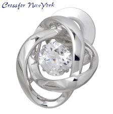 女士们银领带夹 Crossfor 纽约