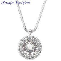 女士银项链 Crossfor 纽约 花 Flower