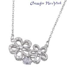 女士银项链 Crossfor NewYork 花