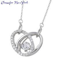 crossfor 纽约 银项链 心形 银饰品