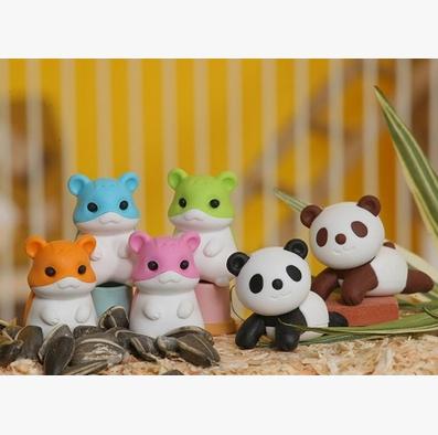 日本Iwako橡皮擦 仓鼠熊猫 ER-HAM001