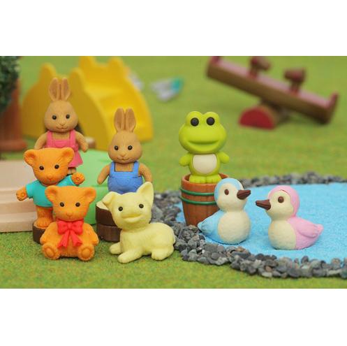 日本Iwako橡皮擦 仿真橡皮 动物 (青蛙、狗、泰迪熊、兔子、鸭子)  ER-DOU001