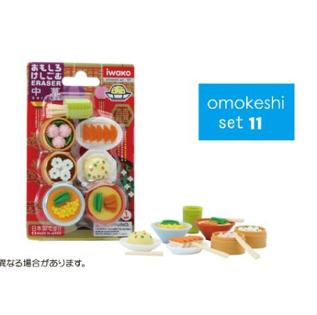 日本Iwako趣味橡皮擦 中国料理系列 泡罩包装 ER-BRI014