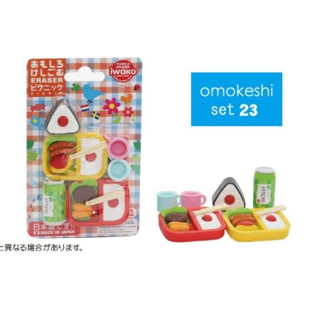 日本Iwako趣味橡皮擦 野餐系列 泡罩包装 ER-BRI027