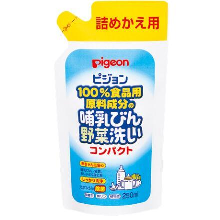 日本 贝亲(Pigeon)奶瓶清洗剂 果蔬清洗液 婴儿植物成分奶瓶清洁剂密封250ML