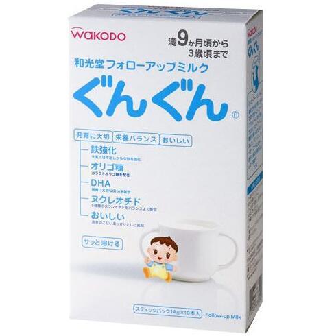 日本 和光堂wakodo 婴幼儿宝宝奶粉2段盒装便携袋装奶粉