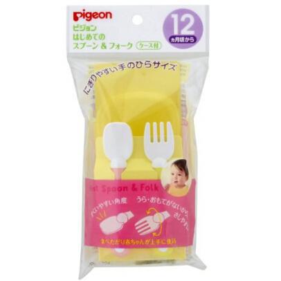 日本 贝亲(Pigeon)婴儿离乳汤匙叉子