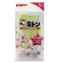 贝亲 日本 K-234宝宝沐浴用海绵手套 温和柔软 洗澡沐浴棉