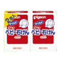 贝亲 日本 纯天然植物精华婴儿香皂 90g*2个装 高保湿低敏