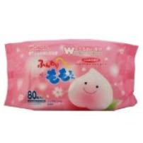 日本 和光堂 桃精华婴儿湿巾 80片装 保湿 温和不刺激