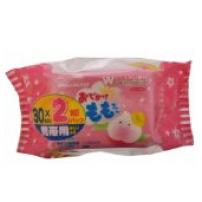 日本原装 Wakodo/和光堂 桃精华婴儿湿巾 2包 30片装