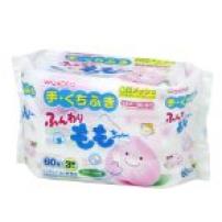日本 和光堂 桃婴儿手口除菌手口湿巾 60片*3包 手口巾