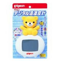 日本 贝亲  数码温湿度计 宝宝电子数码可爱小熊造型温湿度计