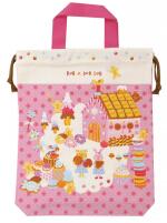 日本 Monseuil 儿童收纳包手提L号 女孩粉 4522202304275