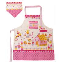 日本 Monseuil 儿童三角巾围裙 女孩粉 4522202304350