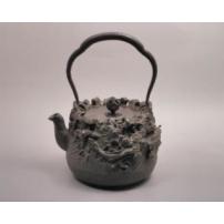 日本 南部铁器 蜡型铁壶 云龙