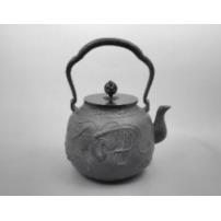 日本 南部铁器  蜡型铁壶  凤凰