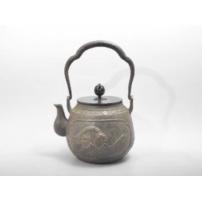 日本 南部铁器  蜡型铁壶  富岳三十六景