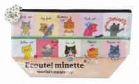 日本 Monseuil  化妆包 小袋  餐桌图案 4522202804706
