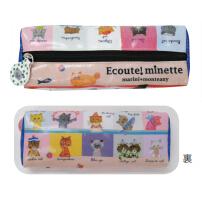 日本 Monseuil 圆筒笔袋  餐桌图案 4522202804720