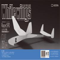 Whitewings Racer590 手掷大型高性能滞空竞技用纸飞机玩具 2架   4571397652074