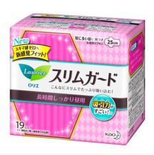 花王日用护翼卫生巾25cm超薄1mm 无荧光剂 19片