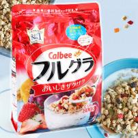 日本进口Calbee卡乐比水果果仁谷物即食麦片800g