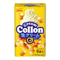 glico格力高 cream Collon 奶油味可珑饼干卷