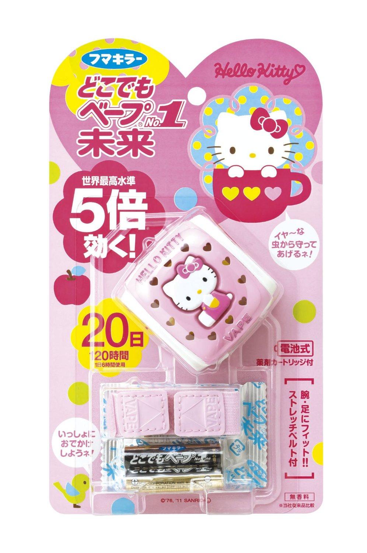 日本VAPE未来hello kitty儿童防蚊驱蚊手表